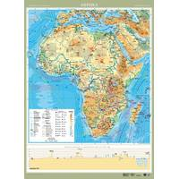 Африка. Фізична карта, м-б 1:8 000 000 (ламинированная)