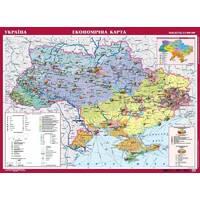 УКРАЇНА. ЕКОНОМІЧНА КАРТА, М-Б 1 : 1 000 000 (НА КАРТОНІ) 148.00cm X 107.00cm