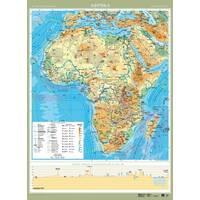 Африка. Фізична карта, м-б 1:8 000 000 (ламинированная, на планках)