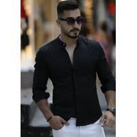 Чорна облягаюча сорочка і приємній люксовой тканині S, M, L, XL, XXL