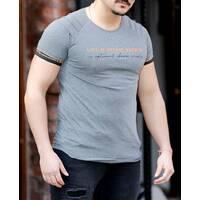 Сіра футболка з дизайном рукава change growth L, XL