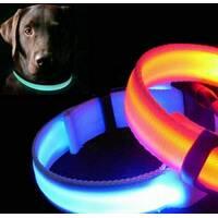 Нашийник LED вузький, що світиться, для невеликих собак і кішок 0.5 м СИНІЙ