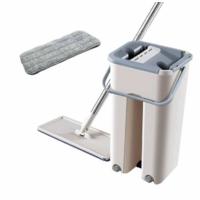 Швабра і Відро Велике Scratch Cleaning Mop з доладною ручкою і системою віджимання, дві насадки мікрофібри