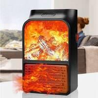 Портативний обігрівач з пультом Flame Heater (500 Вт) Економний