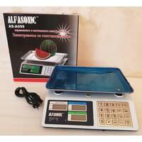 Весы електронні торгові до 55 кг Alfasonik AS - A099 з металевими кнопками