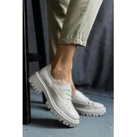 Женские туфли кожаные весна/осень бежевые OLLI т-306 Астра