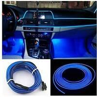 Підсвічування для салону 5 М автомобіля з адаптером в прикуриватель CAR Cold Light Line EL - 1302 СИНЯ