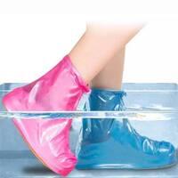 Багаторазові водонепроникні чохли бахіли для взуття з блискавкою і шнурком-обважнює  ART - 801