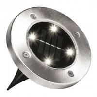 Вуличний світильник на сонячній батареї Solar Disk 8led - dm8 - садовий ліхтар