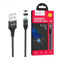 Кабель магнітний для айфонів Hoco U76 Magnetic Adsorption Lightning USB