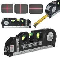 Лазерний рівень c рулеткою і лінійкою  level meter