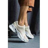 Женские кроссовки кожаные весна/осень бежевые Emirro ЖС-23-05
