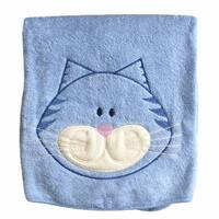 Дитячий рушник «Котик» з вишивкою/90•90