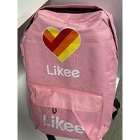 Рюкзак міський місткий Likee R262 Рожевий