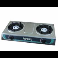 Настольная газовая плита на 2 турбо конфорки Rainberg RB-02
