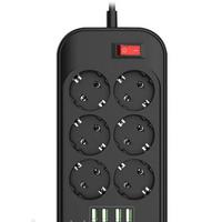 Подовжувач мережевий фільтр Ldnio SE6403