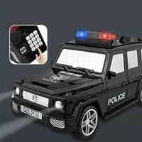 """Детский сейф с кодом и отпечатком пальца в виде """"Машина полиции Гелендваген"""" 2106-1"""