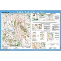Топографічна карта, м-б 125 000 (на планках) навчальна