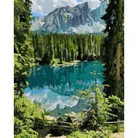 """Картина за номерами 40х50 см """"Загадкове озеро"""" Ідейка КНО2270"""