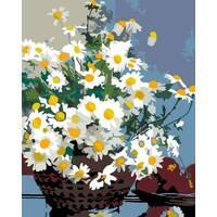 """Картина за номерами 35х45 см """"Ромашки в корзині"""" Rosa N00013301"""