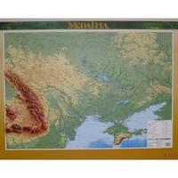 РЕЛЬЄФНА КАРТА  УКРАЇНА М-Б 1:1 650 000