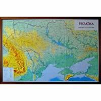 РЕЛЬЄФНА КАРТА УКРАЇНА, М-Б 1:635 000 (В ДЕРЕВ'ЯНІЙ РАМІ)   215х150см