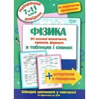 Фізика в таблицях та схемах 7-11 класи Найкращий довідник Пєєва А. Ф. 2020