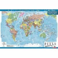 Политична карта світу, м-б 1:35 000 000 (ламінована, на капі в рамі) 98.00 X 68.00 см 2019