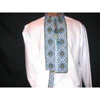 чоловіча вишита сорочка з тризубом