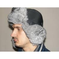 Чоловіча хутряна шапка з кролика (світло сіра) a669c2e5ac3f5