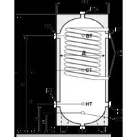 Бак аккумулятор горячей воды ЕАI-10-1000