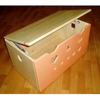 Ящик для хранения игрушек (персик)