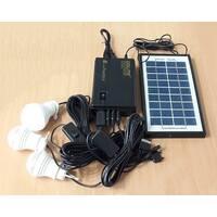 Портативний акумулятор GDLITE GD-8365 (сонячна батарея, 3 світлодіодні лампи, акумулятор)