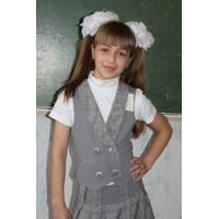 Жилет модный  для девочек младшей и средней школьной группы  Жл 116-4