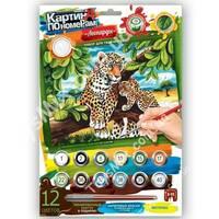 Набір для творчості Картина за номерами: Леопарди