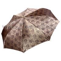 Женский зонт Три Слона Золотистый жаккард ( полный автомат ) арт. L3812-4