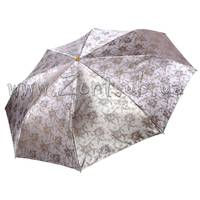 Женский зонт Три Слона Серебристый жаккард ( полный автомат ) арт. L3812-5