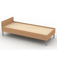 Кровать односпальная на металлокаркасе (мет. 25х25х2)