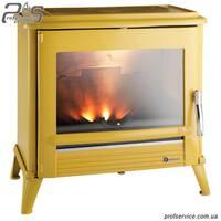 Чугунная печь INVICTA MODENA желтая эмаль - 12 кВт