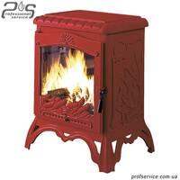 Чугунная печь INVICTA CHAMBORD красная эмаль - 10 кВт