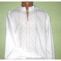 рубашка чоловіча вишита білим по білому