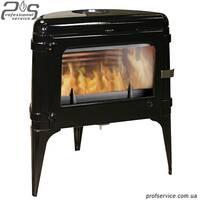 Чугунная печь INVICTA LUNA черная эмаль - 10 кВт