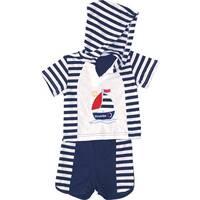 Комплект летний «Морячок» (футболка с капюшоном+ шорты) В11-40.01