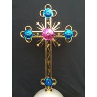 Хрест церковний з кольоровим напиленням