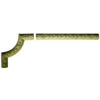 Угловой декоративный элемент из гипса Ке/001 + Мо/002