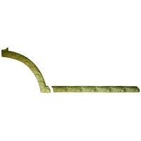 Угловой декоративный элемент из гипса Ке/002 + Мо/005