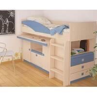 Кровать с выдвижным столом и шкафичками