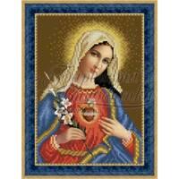 O080ан1622  Ікона Відкрите Серце Марії 16 см x 22 см