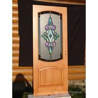 Художній вітраж на двері 2