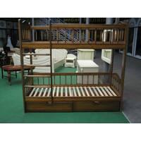 Ліжко двох'ярусне зі сходами